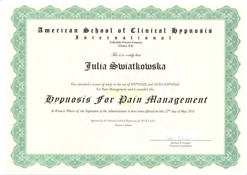 American School Of Clinical Hypnosis Hypnosis For Pain Management