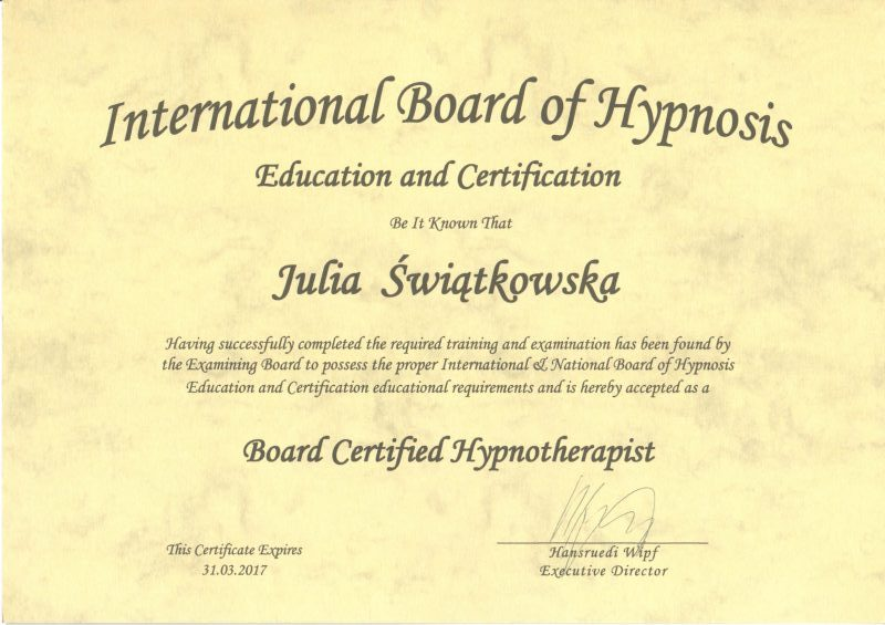International Board of Hypnosis Education and Certification